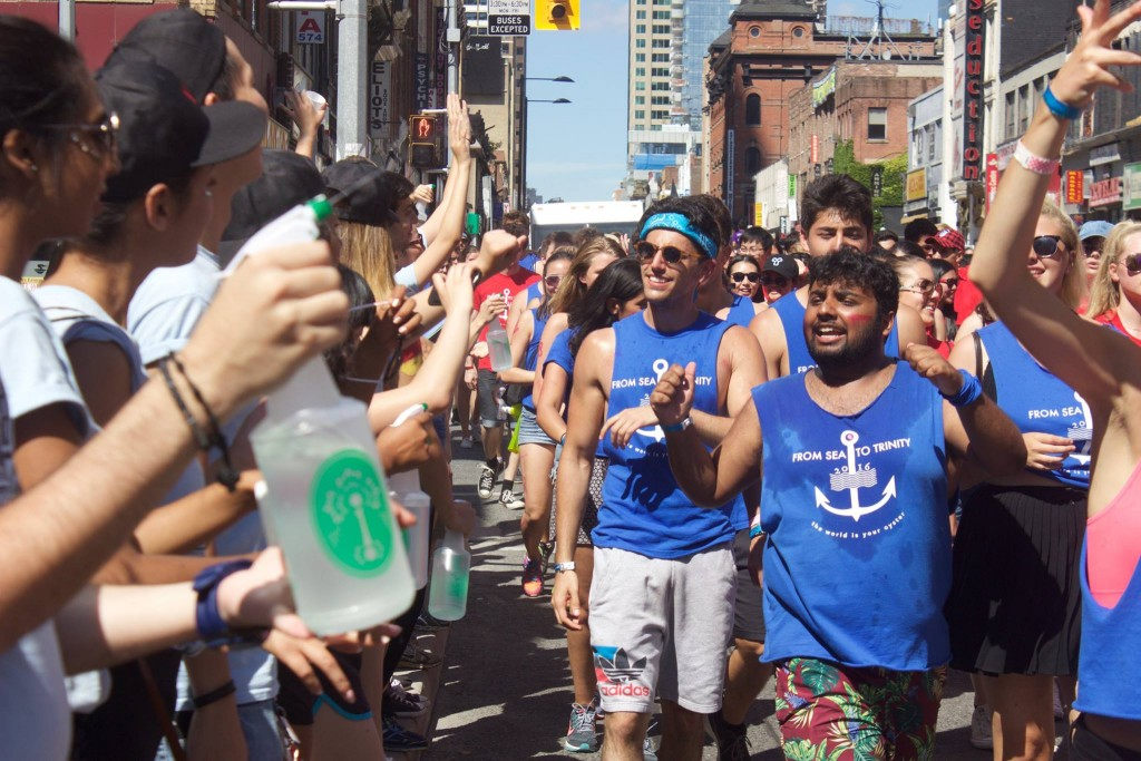 Picture of me at the U of T Orientation Week Parade.