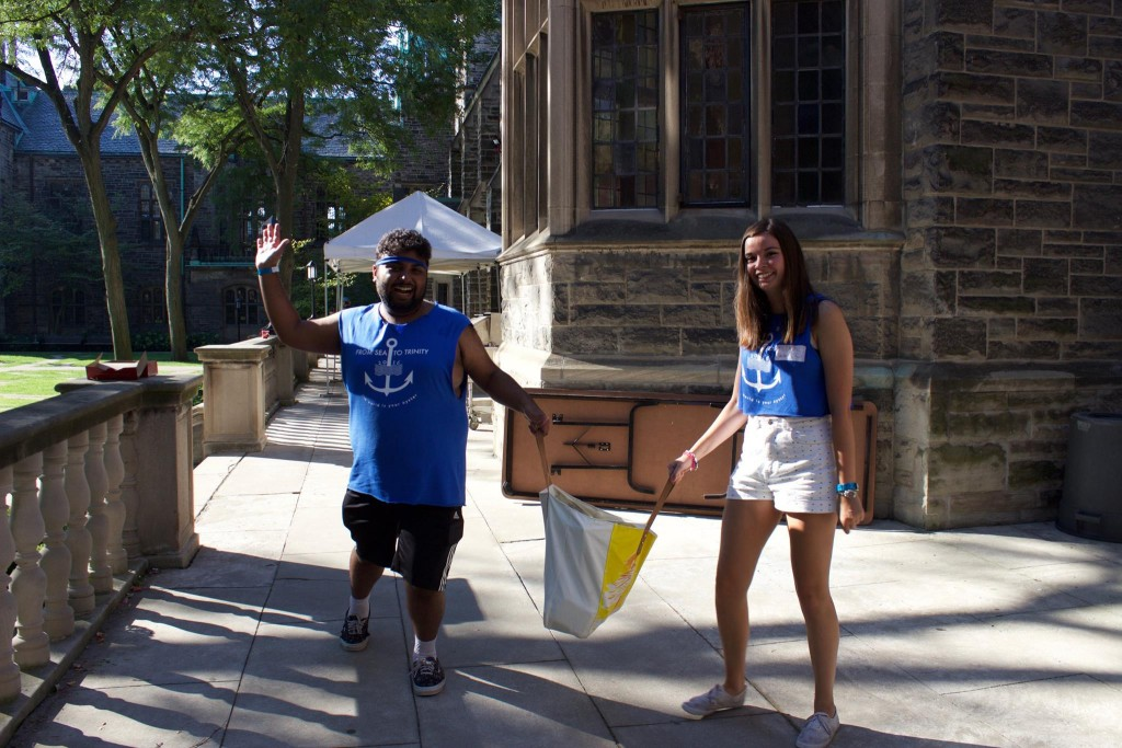 Photo of Julianne and I at Trinity College Orientation Week.