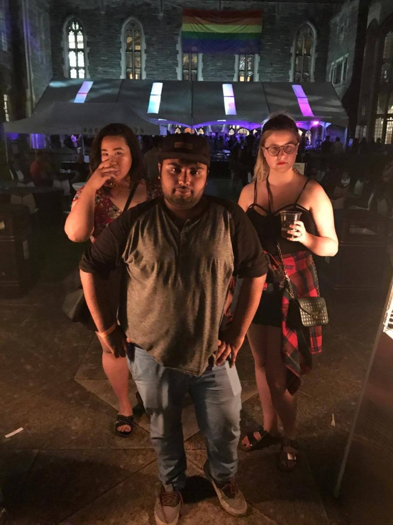 Photo of Avneet and friends at Pride Pub