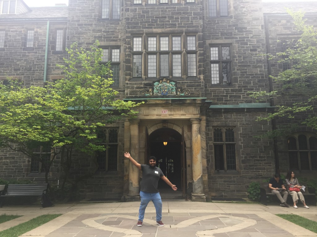Picture of me in front of Trinity College