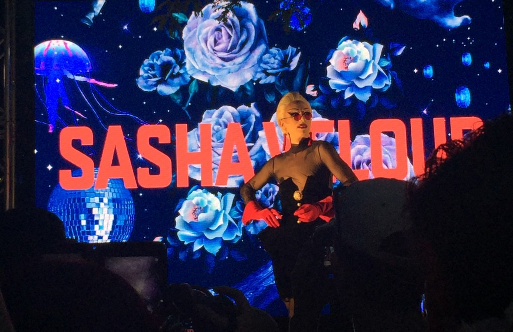 Picture of Sasha Velour performing on stage.