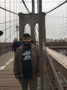 Picture of Avneet at Brooklyn Bridge
