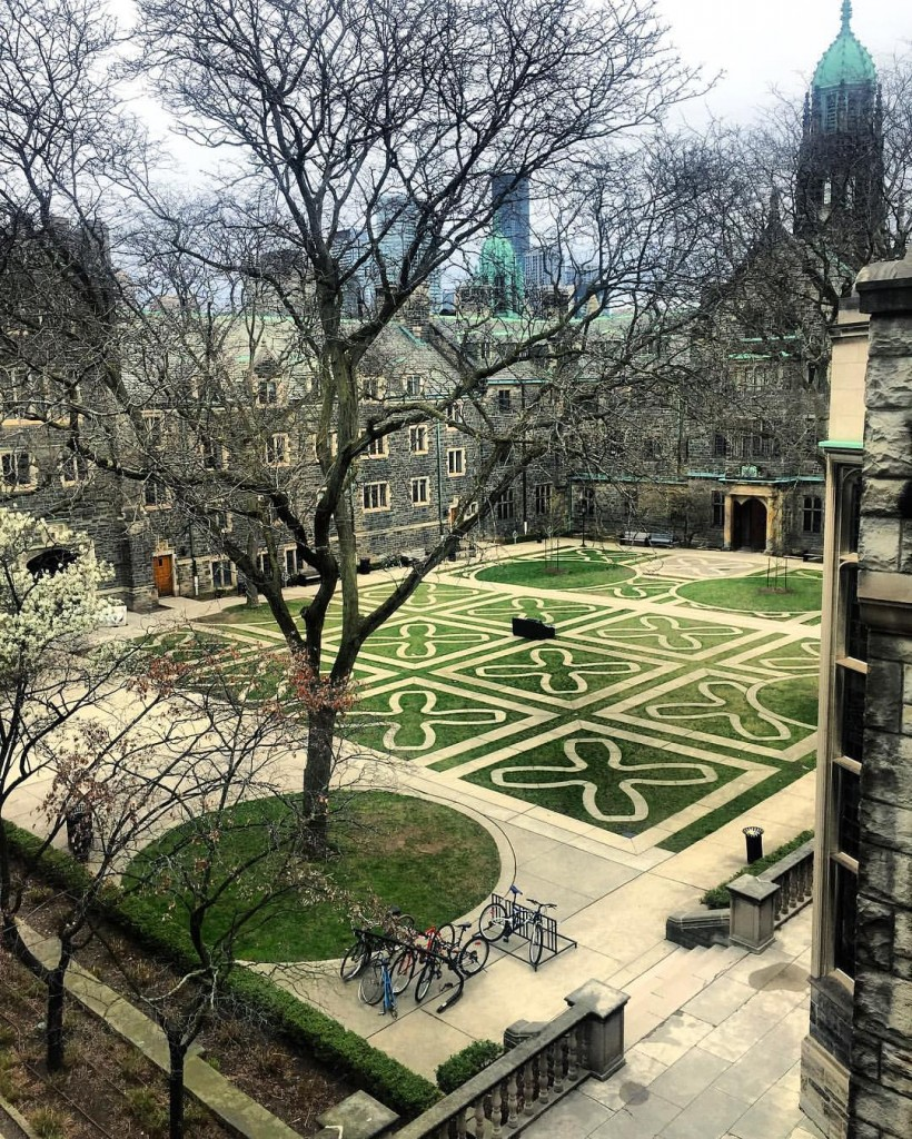 A picture of the Trinity College Quad.