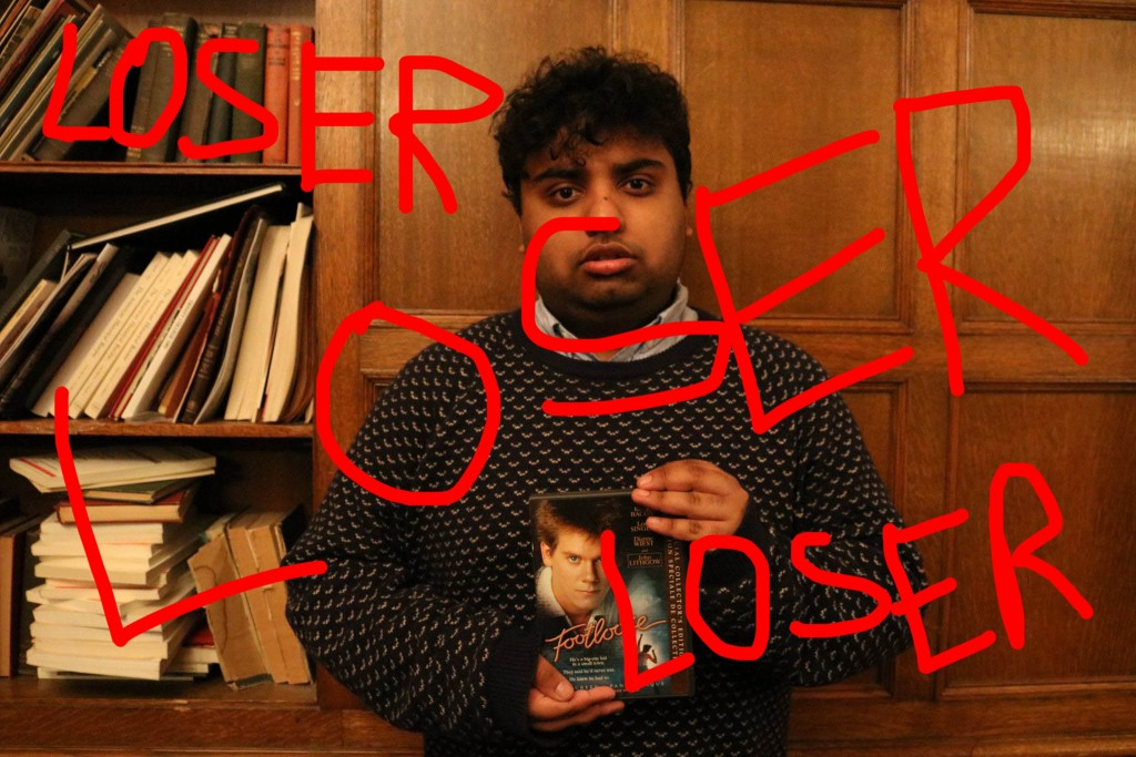 "Photo of Avneet with the words ""LOSER"" written over him."