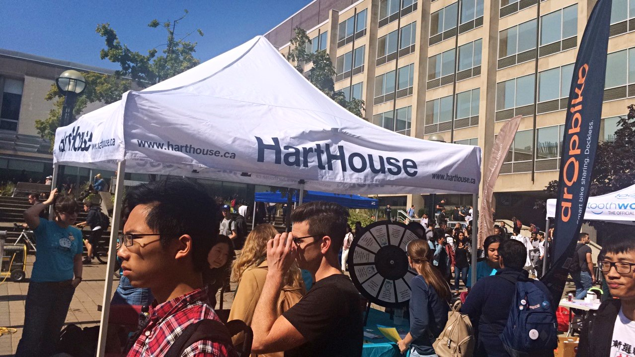 A picture of Hart House tent during the street fair.