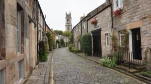 "A beautiful street in Edinburgh's ""New Town"""