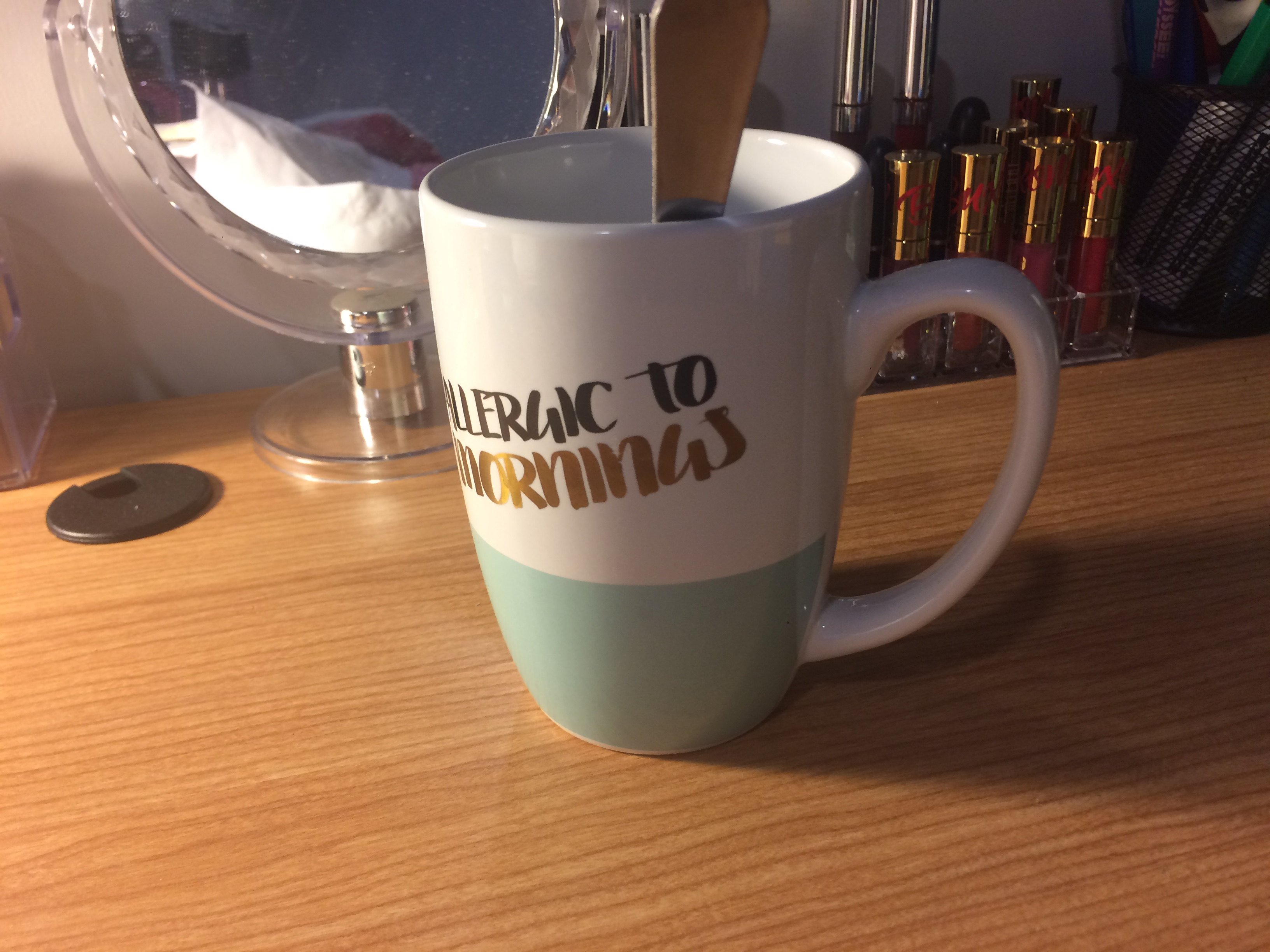 A picture of my favorite tea mug