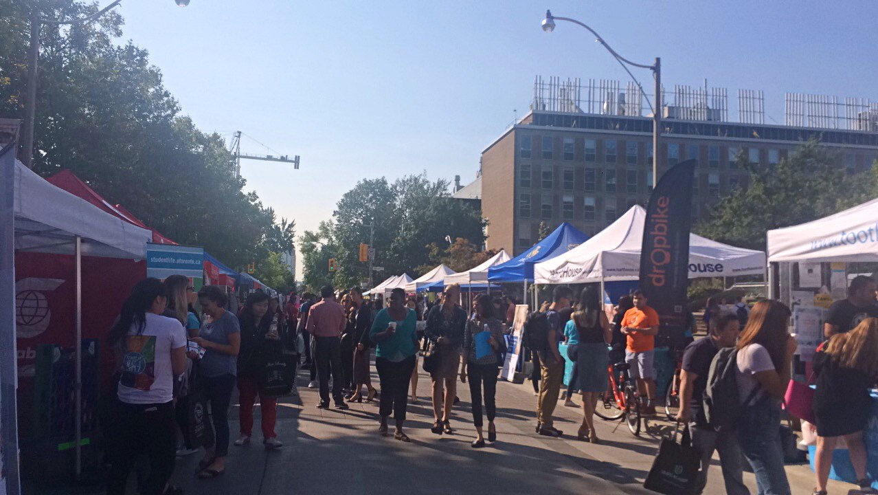 A picture of the St. George Street Fair