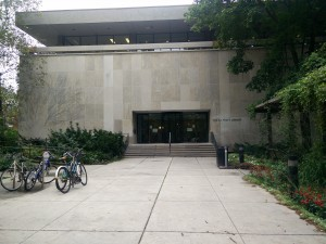 Exterior shot of the E.J Pratt library