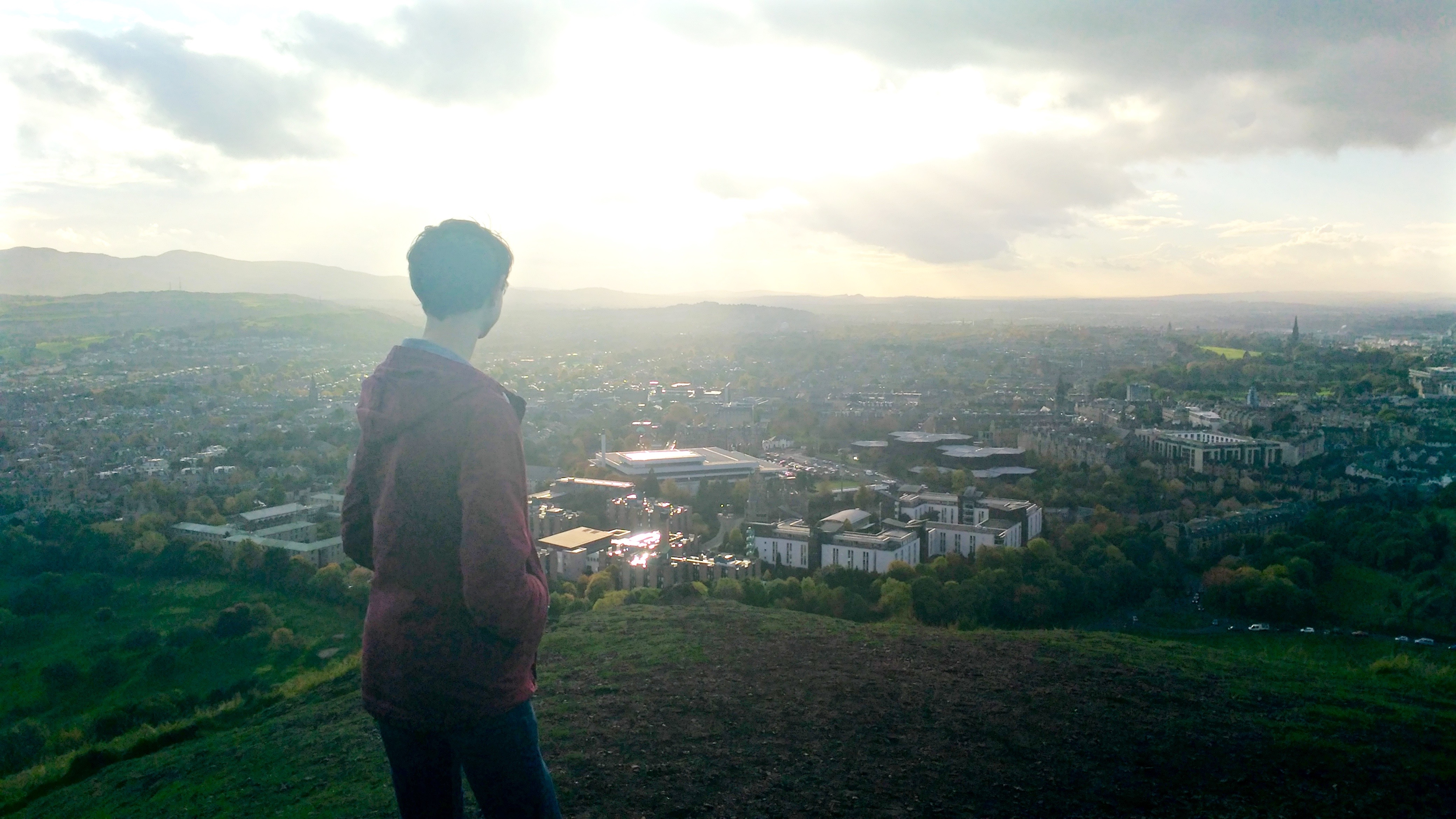 Arthur's Seat has become my place to get away from the city and reflect on my  experience abroad