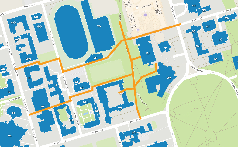 mapped connections from Philosopher's Walk