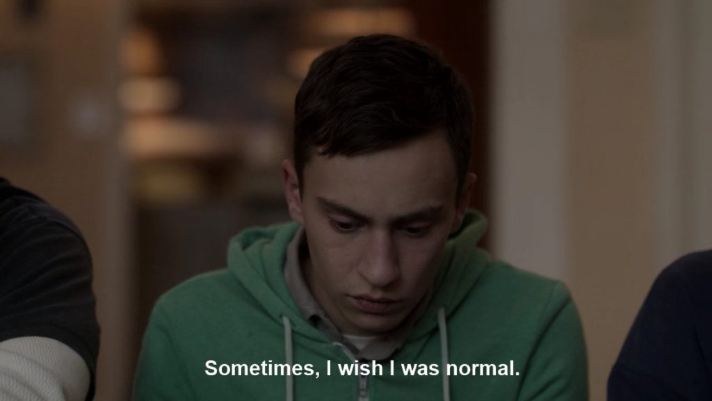 "Sam, Atypical's protagonist, saying ""Sometimes, I wish I was normal"""