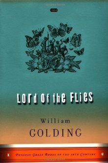 The book cover of Lord Of the Flies, featuring a collection of butterflies and flowers in a bundle in black pen