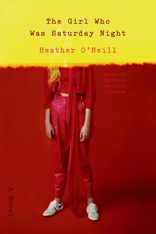 "the cover for ""The Girl Who Was Saturday Night"" featuring a woman in a red jumpsuit"