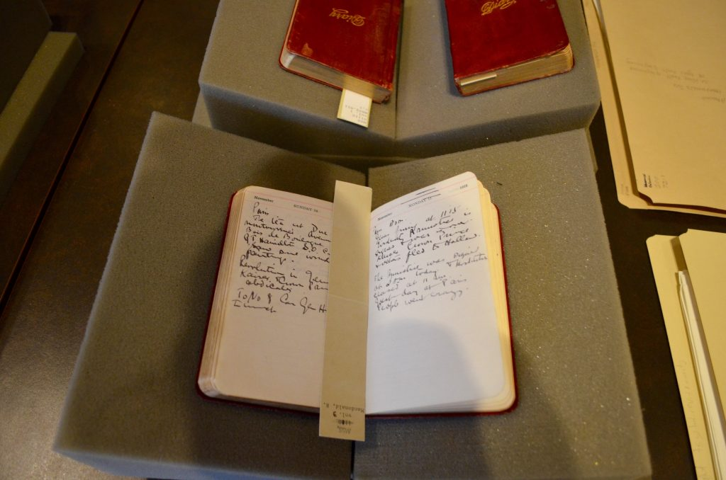 Diaries of a soldier from World War I