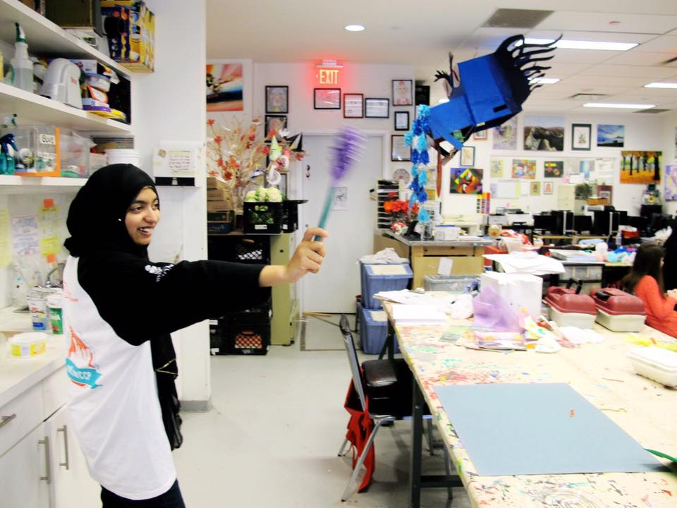 "Sania waving her hand made lavender flower that looks like a wand so hence the caption ""Abracadabra"" :)"