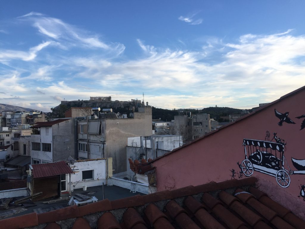 A picture of a rooftop view of Athens.
