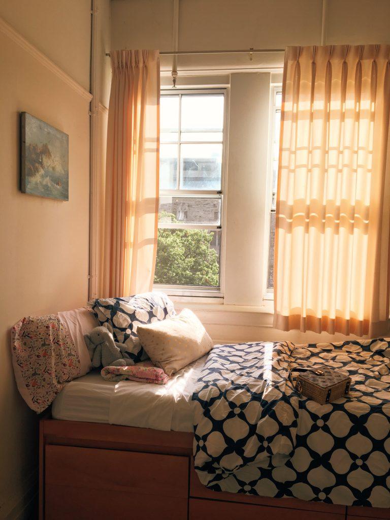 A photo of Emi's dorm room.