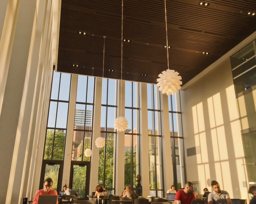 A photo from inside Bora Laskin Law Library.