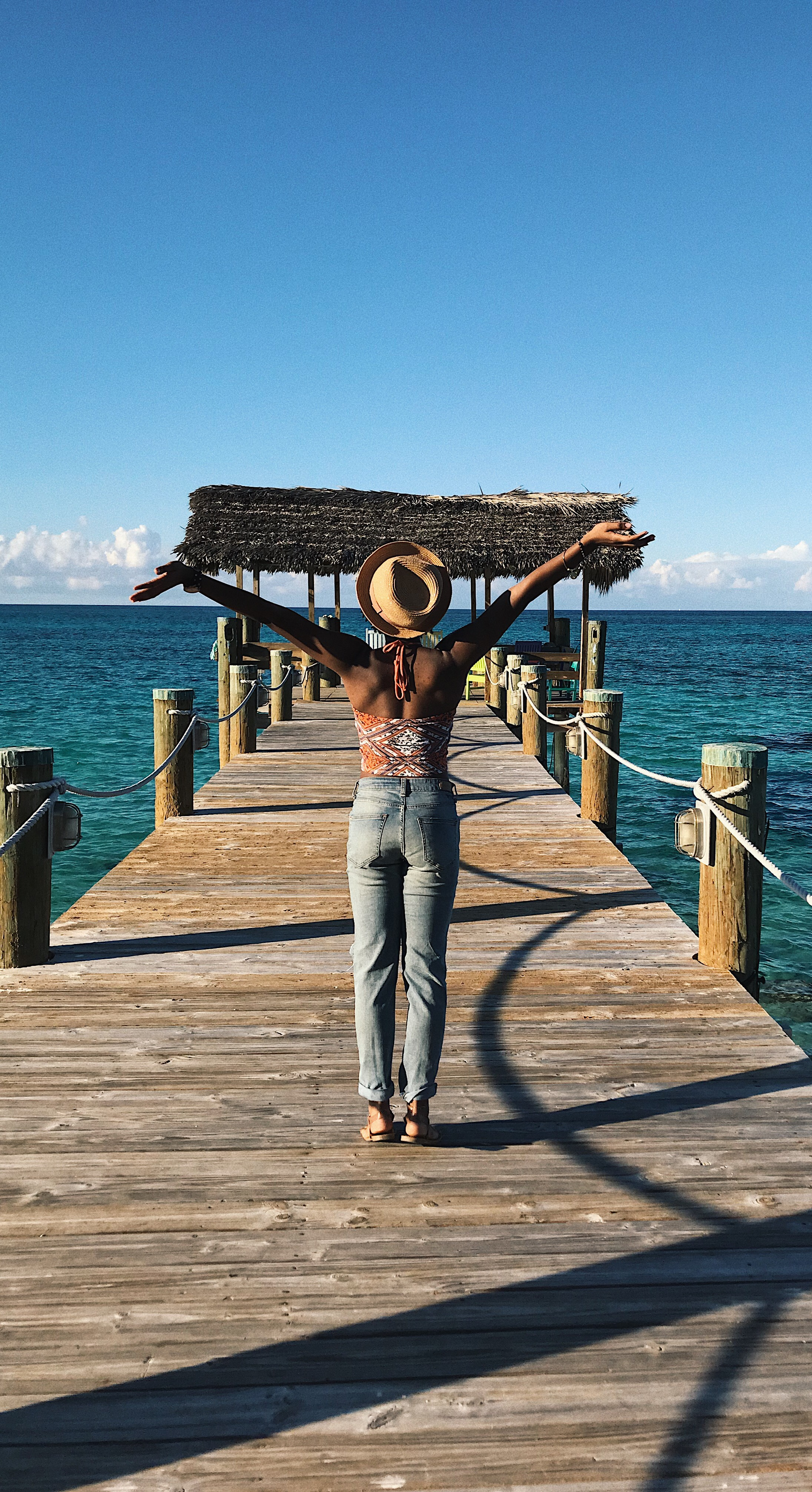 A picture of me in the Bahamas