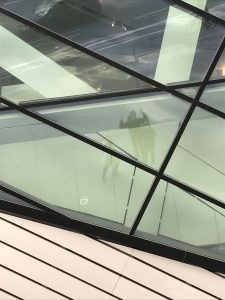 Reflections in glass ROM building