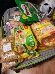 suitcase of Malaysian Food