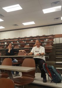 Parents sitting in lecture hall