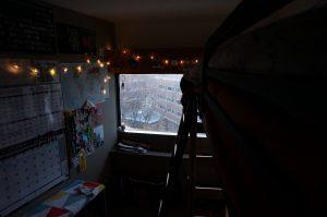 dorm room in new college