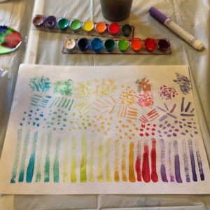 water colour streaks