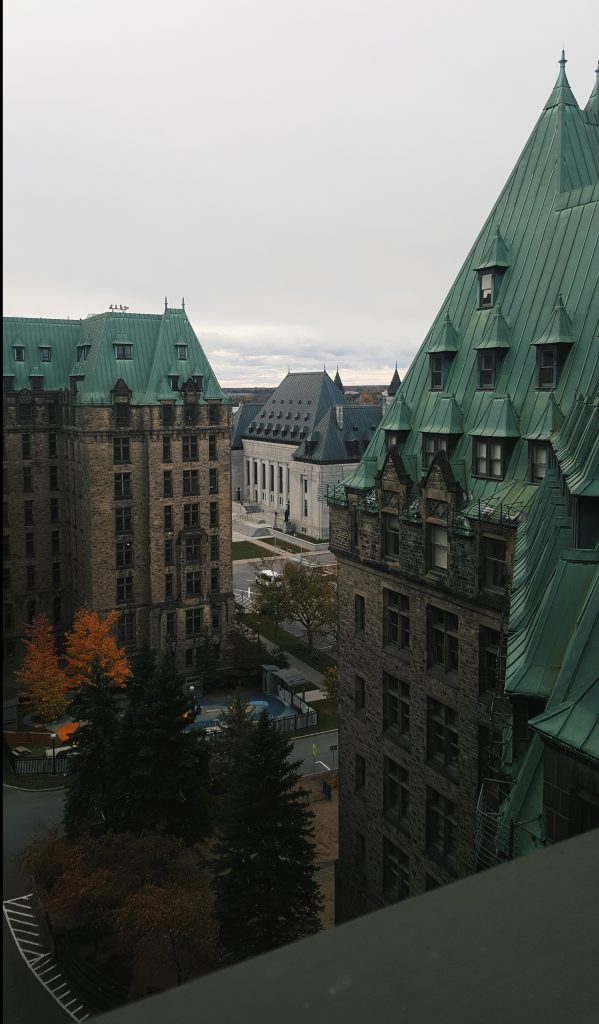 view of supreme court from confederation building