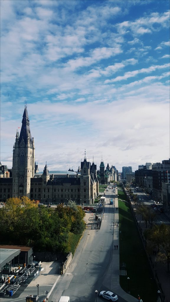 view of centre block and east block