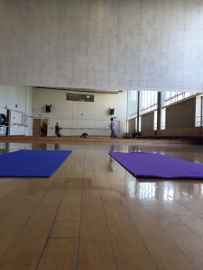 Two yoga mats in the dance studio