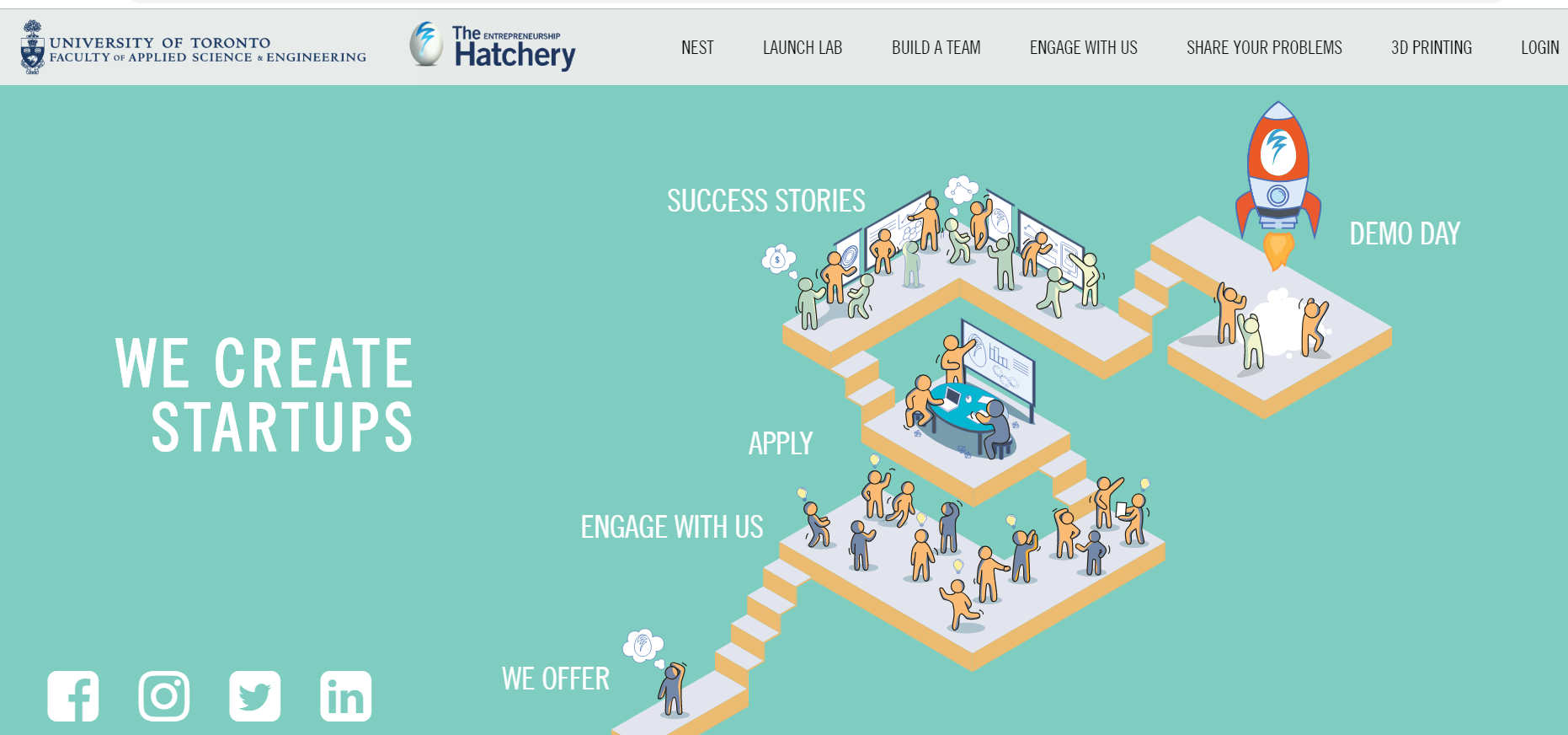 main web page of the Hatchery