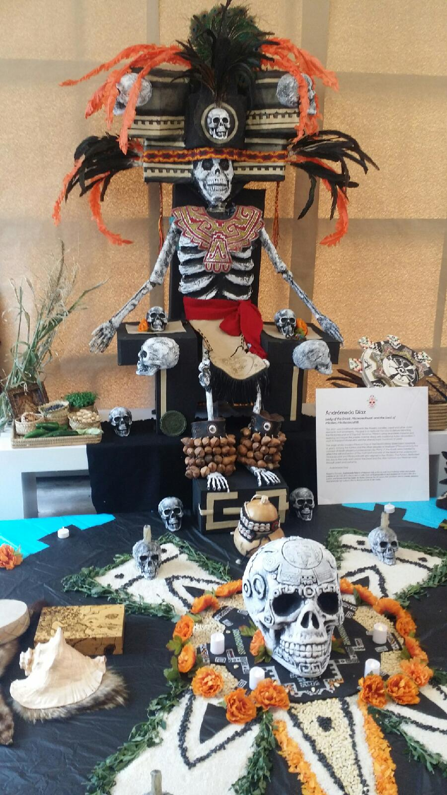 A super awesome altar from the Day of the Dead festivities I checked out. Caption: Super awesome Day of the Dead altar