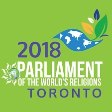 2018 Parliament of the World's Religions logo. Caption: Where I was this weekend, mostly