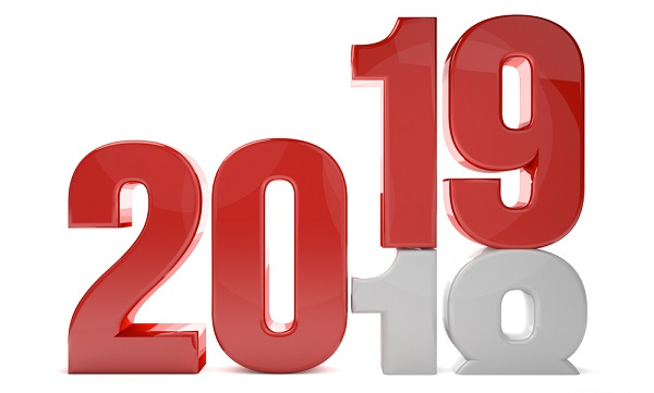 2018 changing into 2019