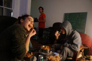 nachos being eaten