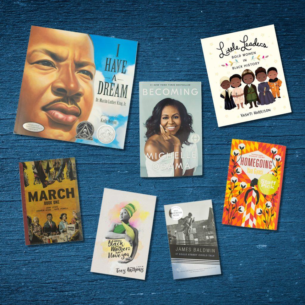 Black History Month books banner
