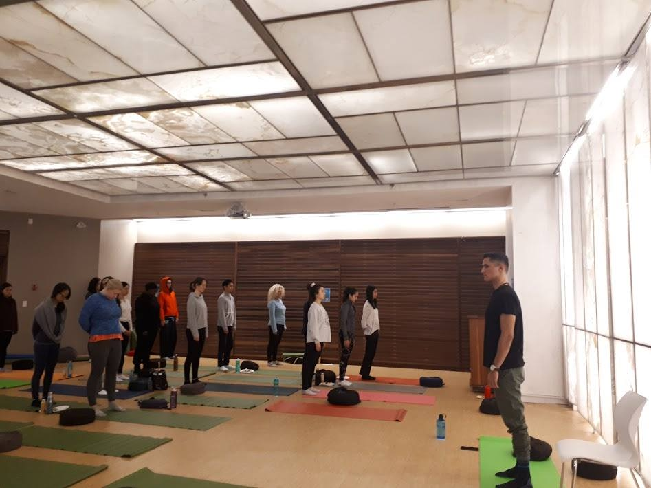 group of people practicing mindfulness