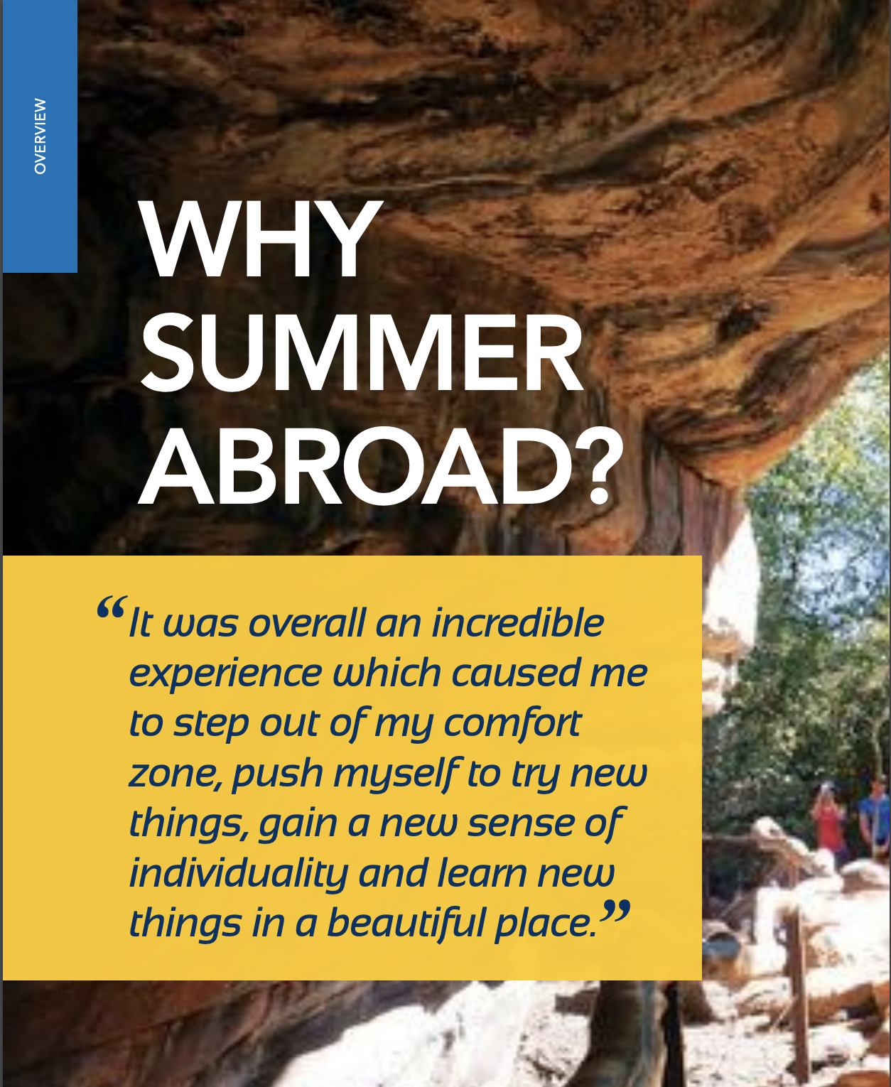 Brochure describing the benefits of Summer Abroad