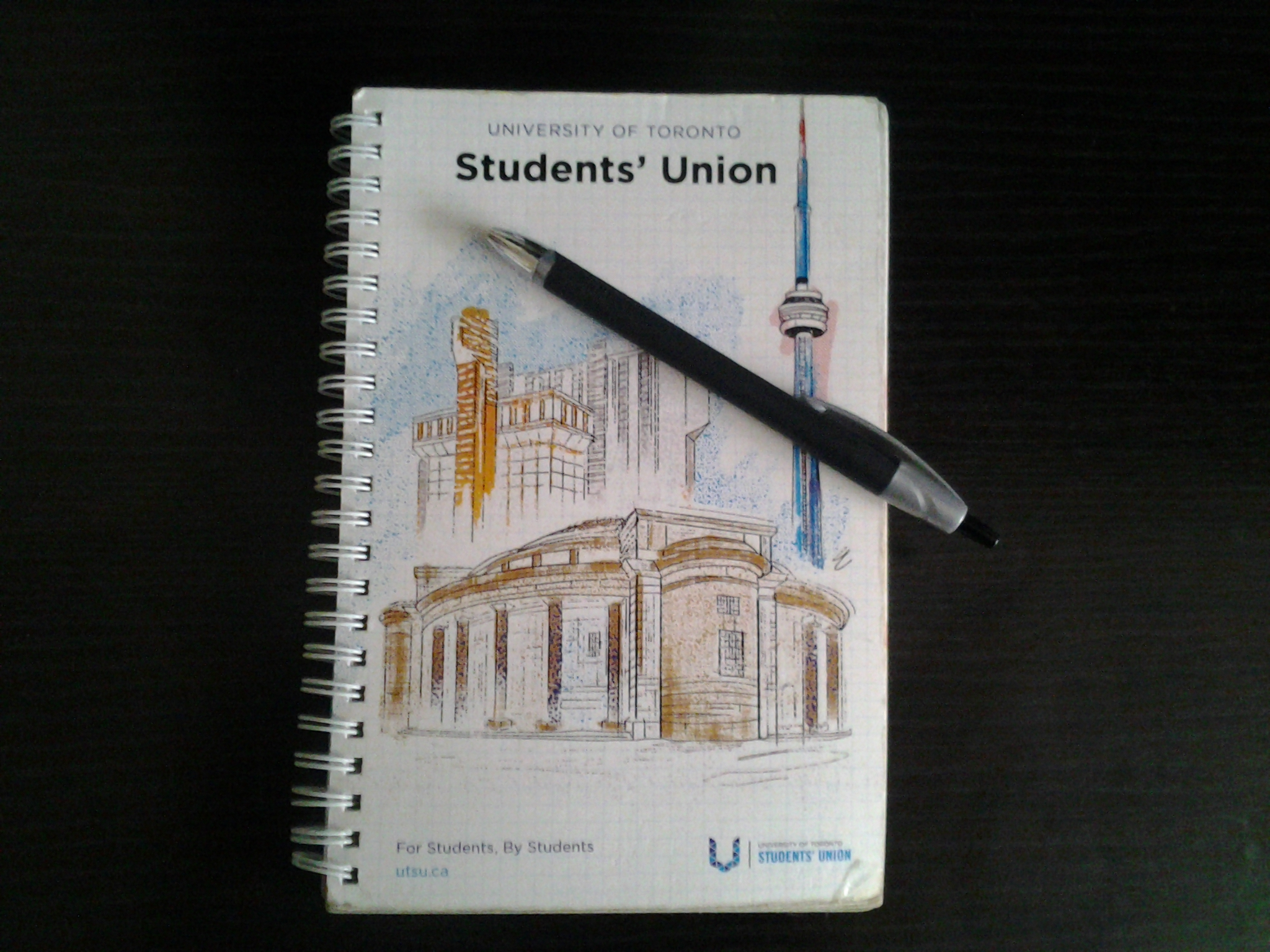 A photo of this year's UTSU student agenda. Caption: This year's agenda