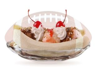 banana split the size of a football