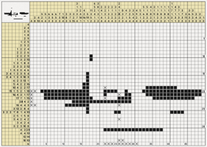 An image of a partially completed nonogram puzzle.
