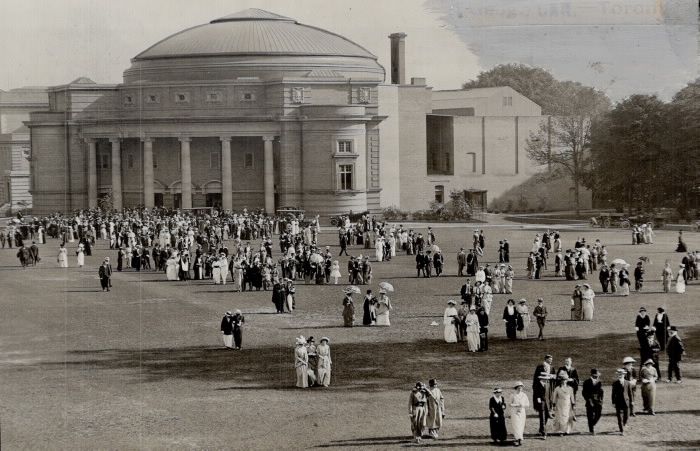 convocation hall in the old days