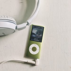 Ipod and headphones.