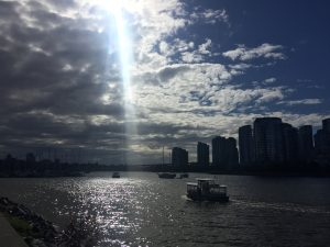 A picture of a harbour in Vancouver, BC.
