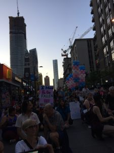 A group of people at the Trans March