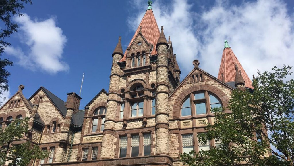 A picture of Victoria College at the University of Toronto