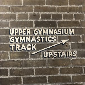 Hart House gym sign.