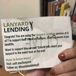 lanyard lending uoft name tag.